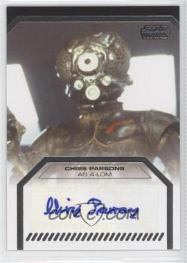 2013 Topps Star Wars Galactic Files Series 2 Autographs #N/A - Chris Parsons as 4-LOM