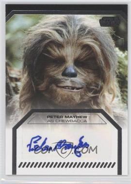 2013 Topps Star Wars Galactic Files Series 2 Autographs #N/A - Peter Mayhew as Chewbacca