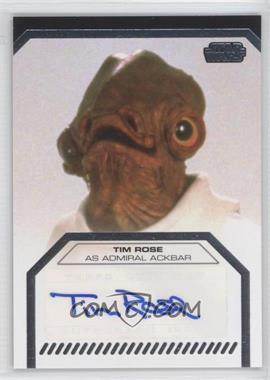2013 Topps Star Wars Galactic Files Series 2 Autographs #N/A - Tim Rose as Admiral Ackbar