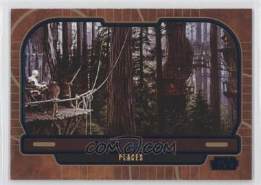 2013 Topps Star Wars Galactic Files Series 2 Blue #671 - Ewok Village /350