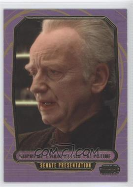 2013 Topps Star Wars Galactic Files Series 2 Gold #406 - Supreme Chancellor Palpatine /10