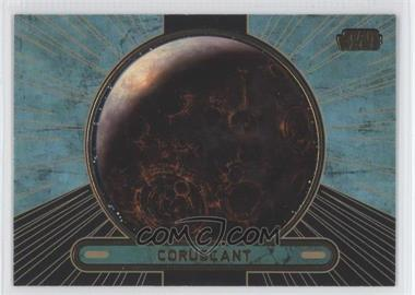 2013 Topps Star Wars Galactic Files Series 2 Gold #674 - Coruscant /10