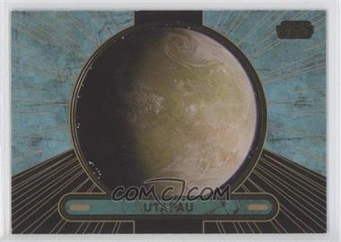 2013 Topps Star Wars Galactic Files Series 2 Gold #677 - Utapau /10