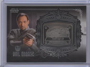 2013 Topps Star Wars Galactic Files Series 2 Medallion Relics #MD-10 - Bail Organa (Tantive IV)