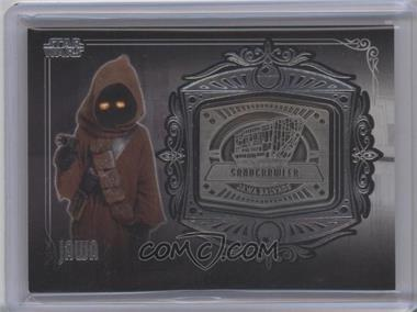 2013 Topps Star Wars Galactic Files Series 2 Medallion Relics #MD-13 - Jawa (Sandcrawler)