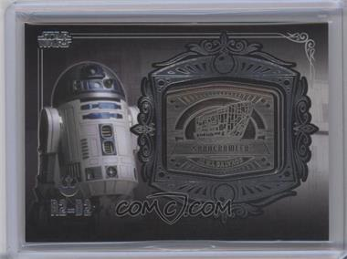 2013 Topps Star Wars Galactic Files Series 2 Medallion Relics #MD-15 - R2-D2 (Sandcrawler)