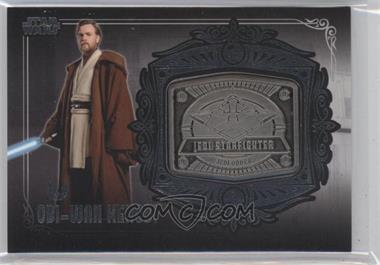 2013 Topps Star Wars Galactic Files Series 2 Medallion Relics #MD-25 - Obi-Wan Kenobi (Jedi Starfighter)