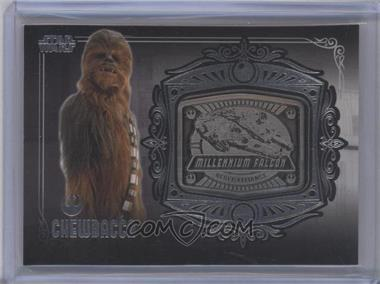 2013 Topps Star Wars Galactic Files Series 2 Medallion Relics #MD-4 - Chewbacca (Millennium Falcon)