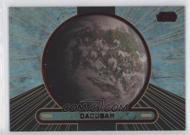 2013 Topps Star Wars Galactic Files Series 2 Red #685 - Dagobah /35