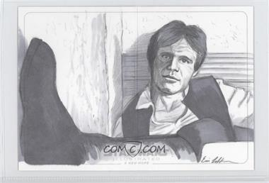 2013 Topps Star Wars Illustrated: A New Hope Panorama Sketch #ELHS - Eric Lehtonen (Han Solo) /1