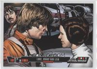 Luke, Biggs and Leia