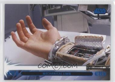 2013 Topps Star Wars Jedi Legacy - [Base] - Blue #31L - Mechanical Limb (Luke Skywalker)