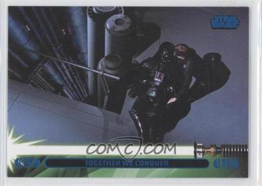2013 Topps Star Wars Jedi Legacy - [Base] - Blue #44L - Together We Conquer (Luke Skywalker)