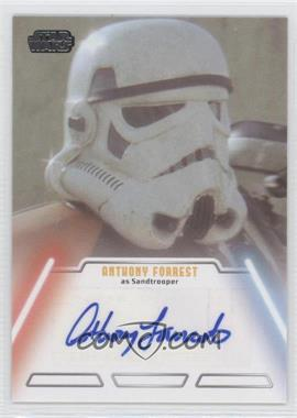 2013 Topps Star Wars Jedi Legacy Autographs #ANFO - Anthony Forrest as Sandtrooper