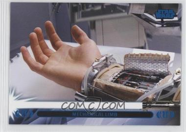 2013 Topps Star Wars Jedi Legacy Blue #31L - Mechanical Limb (Luke Skywalker)
