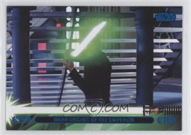 2013 Topps Star Wars Jedi Legacy Blue #42L - Dark Urging of the Emperor (Luke Skywalker)