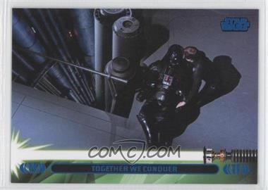 2013 Topps Star Wars Jedi Legacy Blue #44L - Together We Conquer (Luke Skywalker)