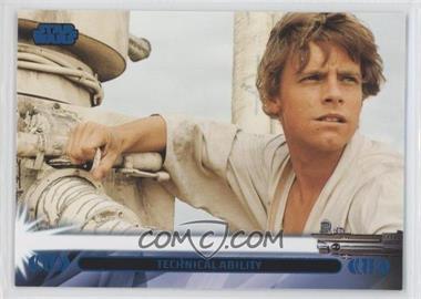 2013 Topps Star Wars Jedi Legacy Blue #7L - Technical Ability (Luke Skywalker)