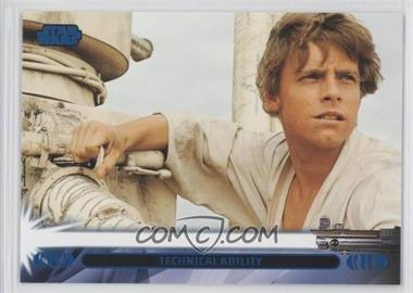 2013 Topps Star Wars Jedi Legacy Blue #7L - Technical Ability (Luke Skywalker)