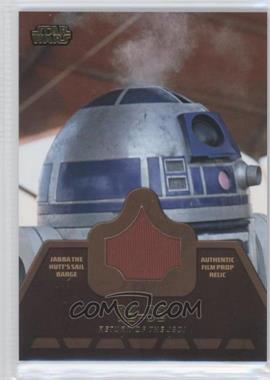 2013 Topps Star Wars Jedi Legacy Jabba the Hutt's Barge Sail Relics #JR-5 - R2-D2
