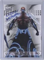 Nightmask Dustin Weaver autograph
