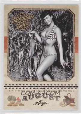 2014 Leaf Bettie Page - Calendar Girl #CG8 - Bettie Page (August)