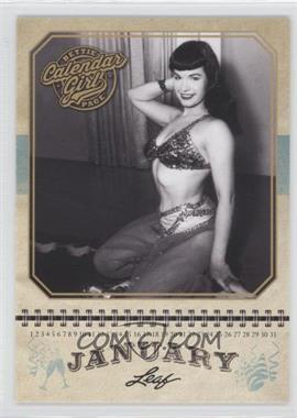 2014 Leaf Bettie Page Calendar Girl #CG1 - Bettie Page (January)