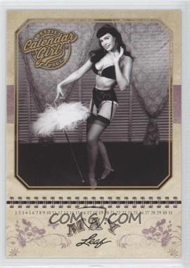 2014 Leaf Bettie Page Calendar Girl #CG5 - Bettie Page (May)
