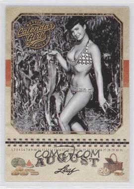 2014 Leaf Bettie Page Calendar Girl #CG8 - Bettie Page (August)