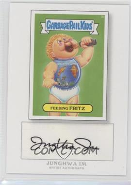 2014 Topps Garbage Pail Kids Series 1 Artist Autographs [Autographed] #3b - Feeding Fritz