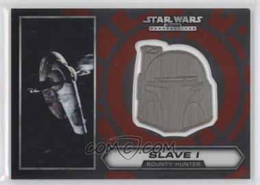 2014 Topps Star Wars Chrome Perspectives - Helmet Medallion - Silver #9 - Slave I