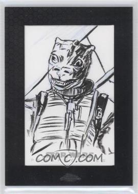 2014 Topps Star Wars Chrome Perspectives - Sketch Cards #JWBO - Jason Walker (Bossk)