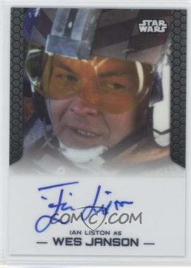 2014 Topps Star Wars Chrome Perspectives Autographs #ILWJ - Ian Liston as Wes Janson