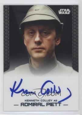 2014 Topps Star Wars Chrome Perspectives Autographs #KCAP - Kenneth Colley as Admiral Piett