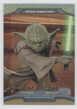 2014 Topps Star Wars Chrome Perspectives Gold Refractor #11E - Yoda /50