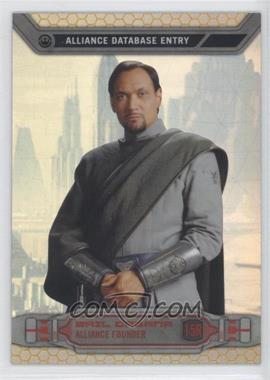 2014 Topps Star Wars Chrome Perspectives Gold Refractor #15R - Bail Organa /50