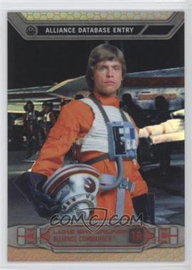 2014 Topps Star Wars Chrome Perspectives Gold Refractor #1R - Luke Skywalker /50