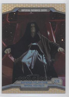 2014 Topps Star Wars Chrome Perspectives Gold Refractor #27E - Emperor Palpatine /50