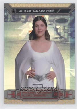 2014 Topps Star Wars Chrome Perspectives Gold Refractor #2R - Princess Leia Organa /50