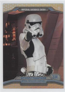 2014 Topps Star Wars Chrome Perspectives Gold Refractor #33E - Stormtroopers /50