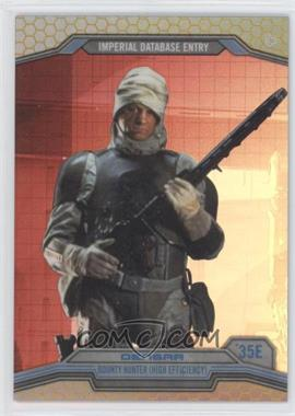 2014 Topps Star Wars Chrome Perspectives Gold Refractor #35E - Dengar /50
