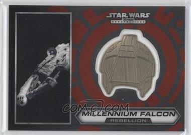 2014 Topps Star Wars Chrome Perspectives Helmet Medallion Silver #12 - Millennium Falcon (short print)