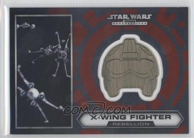 2014 Topps Star Wars Chrome Perspectives Helmet Medallion Silver #15 - X-Wing Fighter (short print)