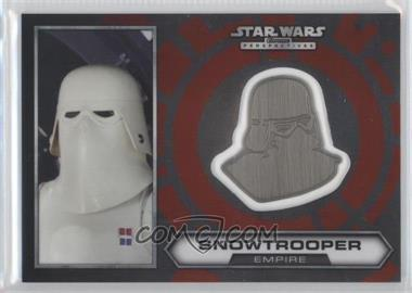 2014 Topps Star Wars Chrome Perspectives Helmet Medallion Silver #19 - Snowtrooper