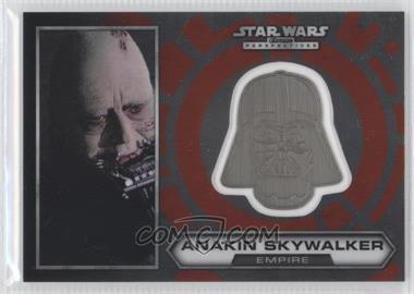 2014 Topps Star Wars Chrome Perspectives Helmet Medallion Silver #2 - Anakin Skywalker
