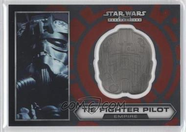 2014 Topps Star Wars Chrome Perspectives Helmet Medallion Silver #21 - Tie Fighter Pilot