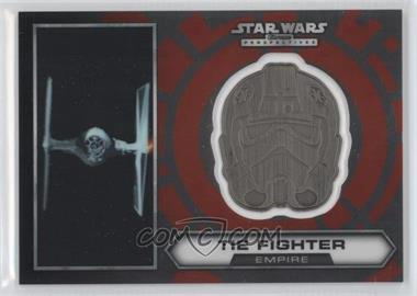 2014 Topps Star Wars Chrome Perspectives Helmet Medallion Silver #22 - Tie Fighter (short print)