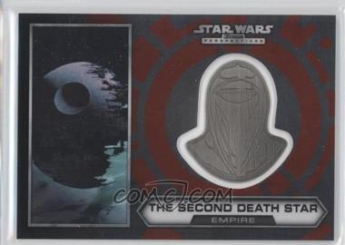 2014 Topps Star Wars Chrome Perspectives Helmet Medallion Silver #30 - The Second Death Star (short print)