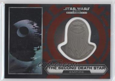 2014 Topps Star Wars Chrome Perspectives Helmet Medallion Silver #30 - The Second Death Star