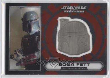 2014 Topps Star Wars Chrome Perspectives Helmet Medallion Silver #8 - Boba Fett